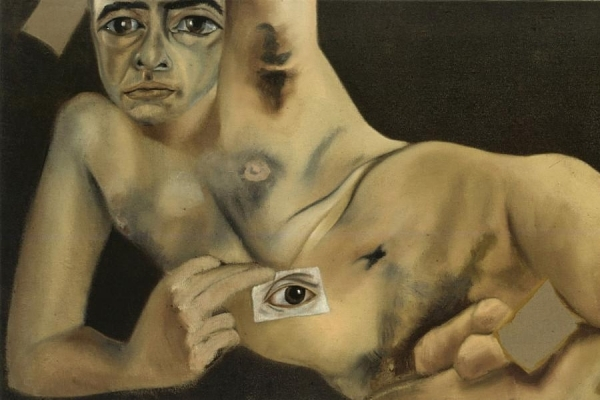 "Francesco Clemente, Self-portrait zu ""Francesco Clemente (2020)"", AT-1010 Wien"
